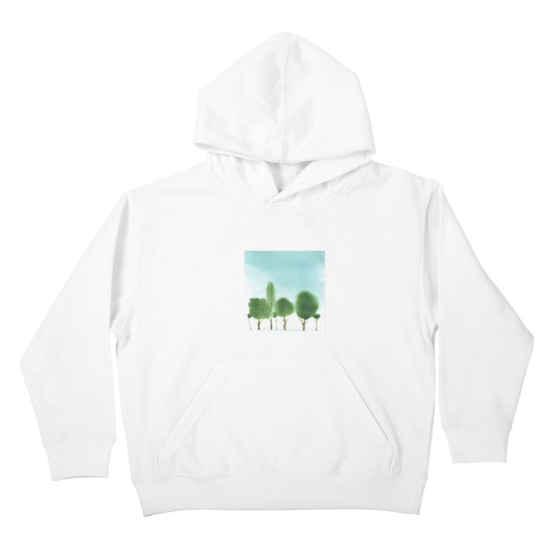 Forest 70p Kids Pullover Hoody by Luskay Art Shop