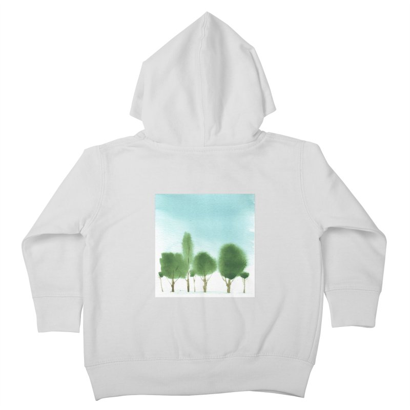 Forest 70p Kids Toddler Zip-Up Hoody by Luskay Art Shop