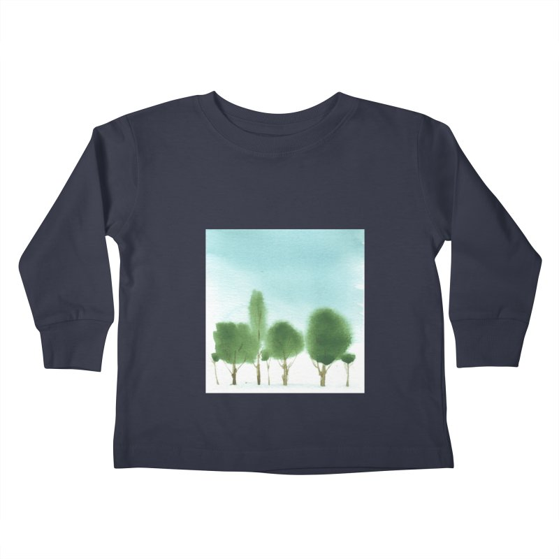 Forest 70p Kids Toddler Longsleeve T-Shirt by Luskay Art Shop