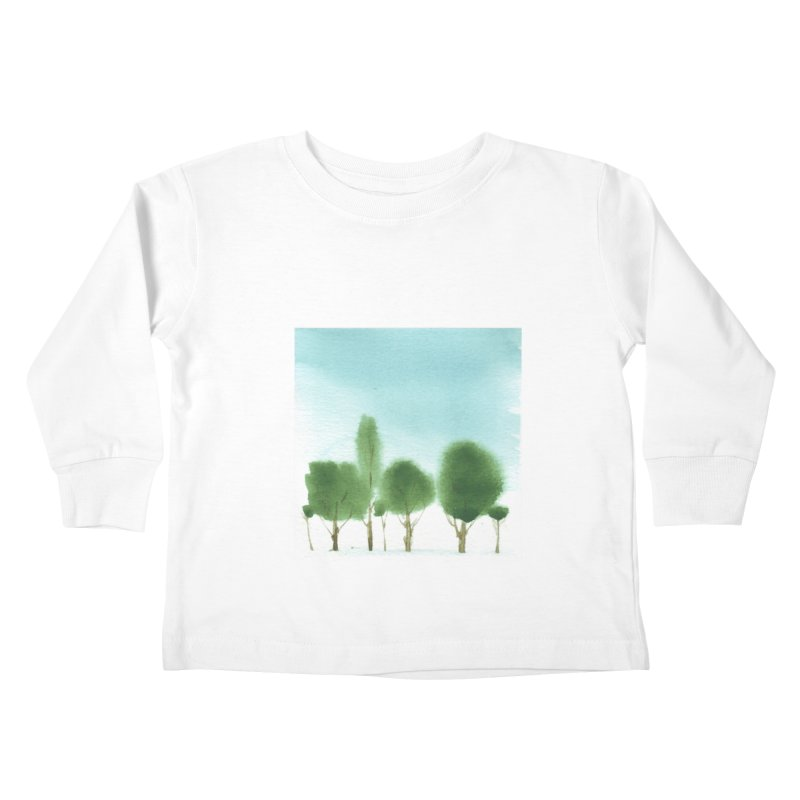 Forest 70p Kids Toddler Longsleeve T-Shirt by Luskay Art Shop