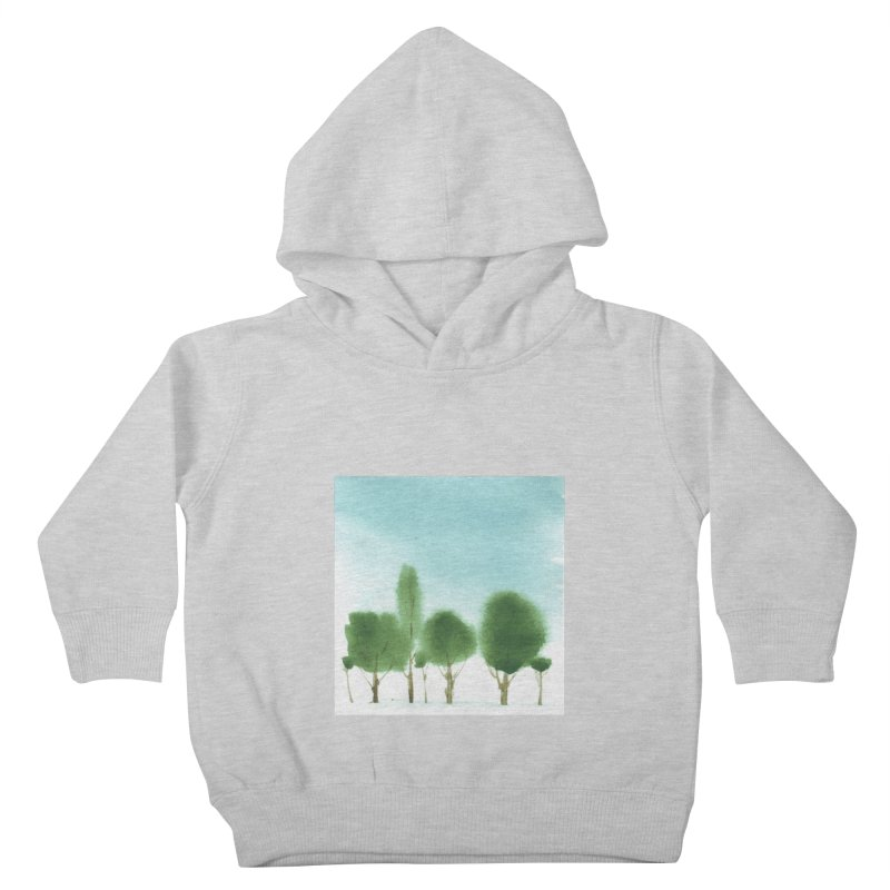 Forest 70p Kids Toddler Pullover Hoody by Luskay Art Shop