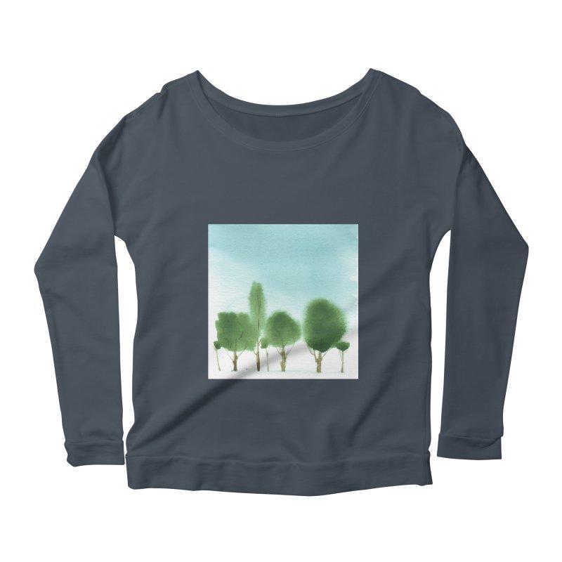 Forest 70p Women's Scoop Neck Longsleeve T-Shirt by Luskay Art Shop