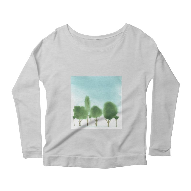 Forest 70p Women's Longsleeve Scoopneck  by Luskay Art Shop