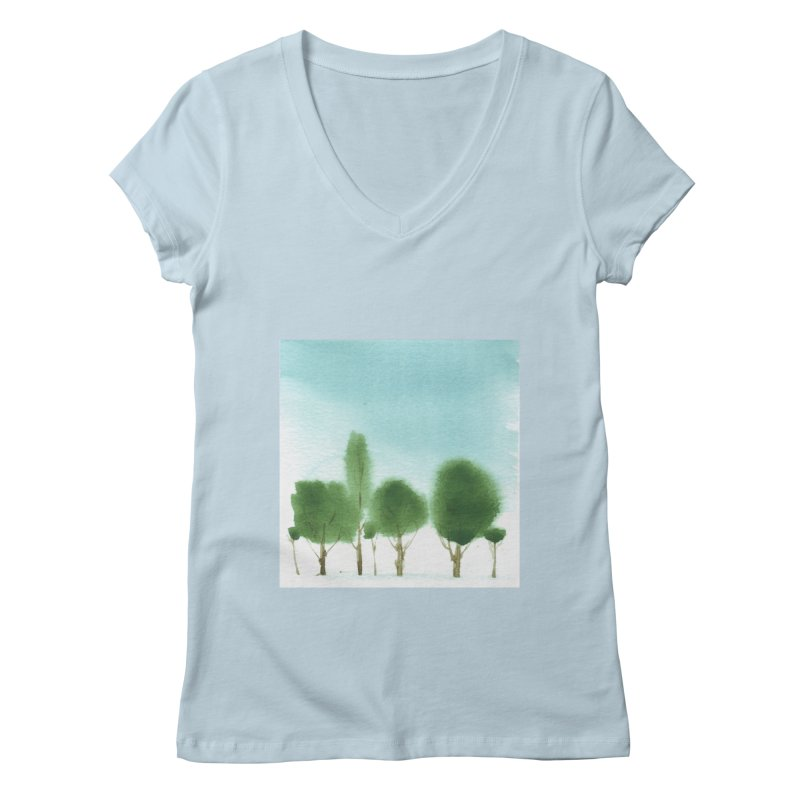 Forest 70p Women's Regular V-Neck by Luskay Art Shop