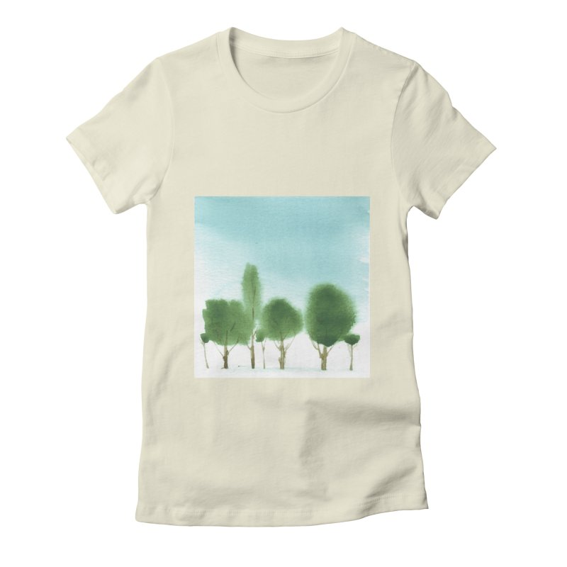Forest 70p Women's Fitted T-Shirt by Luskay Art Shop