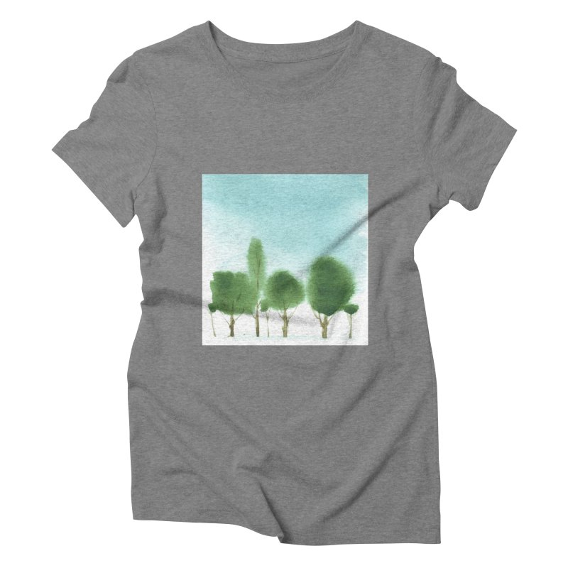 Forest 70p Women's Triblend T-shirt by Luskay Art Shop