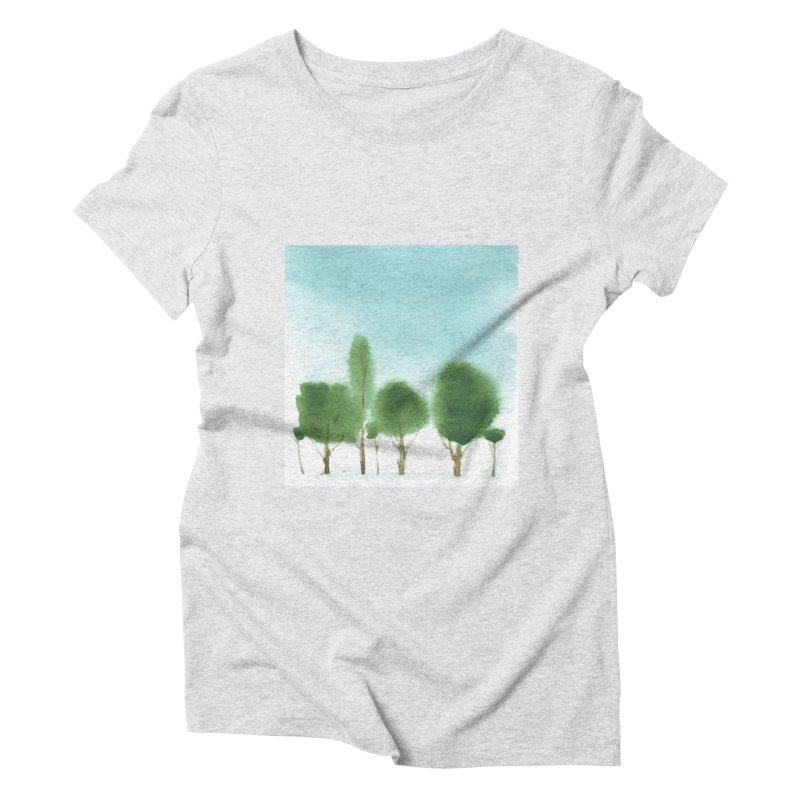 Forest 70p in Women's Triblend T-Shirt Heather White by Luskay Art Shop