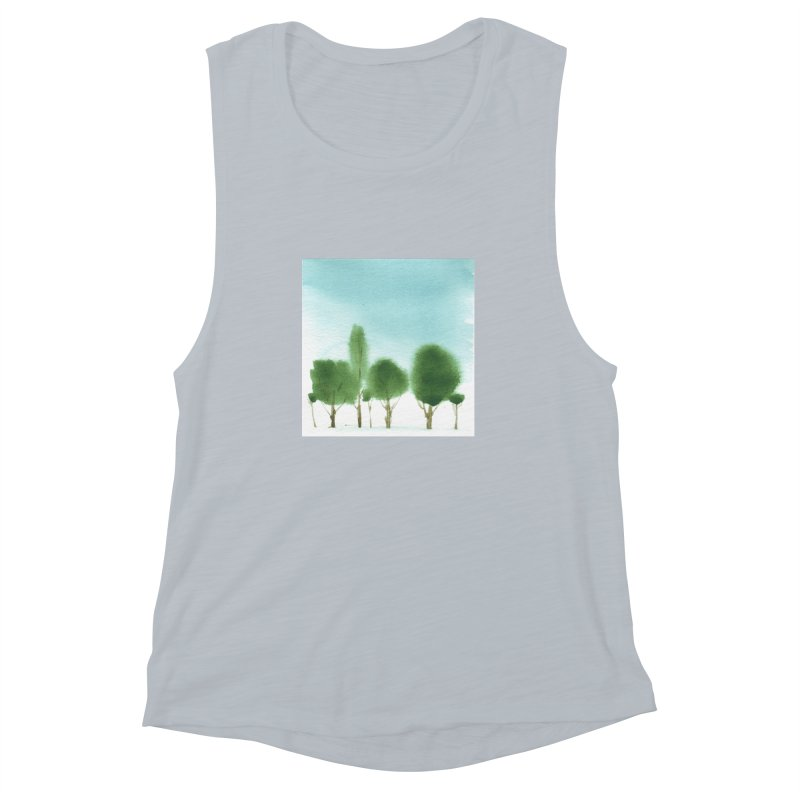 Forest 70p Women's Muscle Tank by Luskay Art Shop