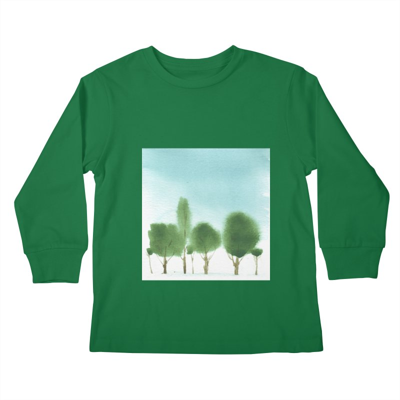 Forest 70p Kids Longsleeve T-Shirt by Luskay Art Shop