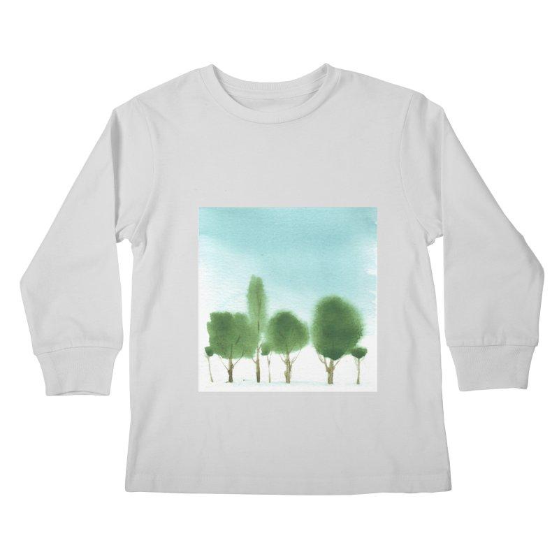 Forest 70p Kids Longsleeve T-Shirt by Luskay Art Shop