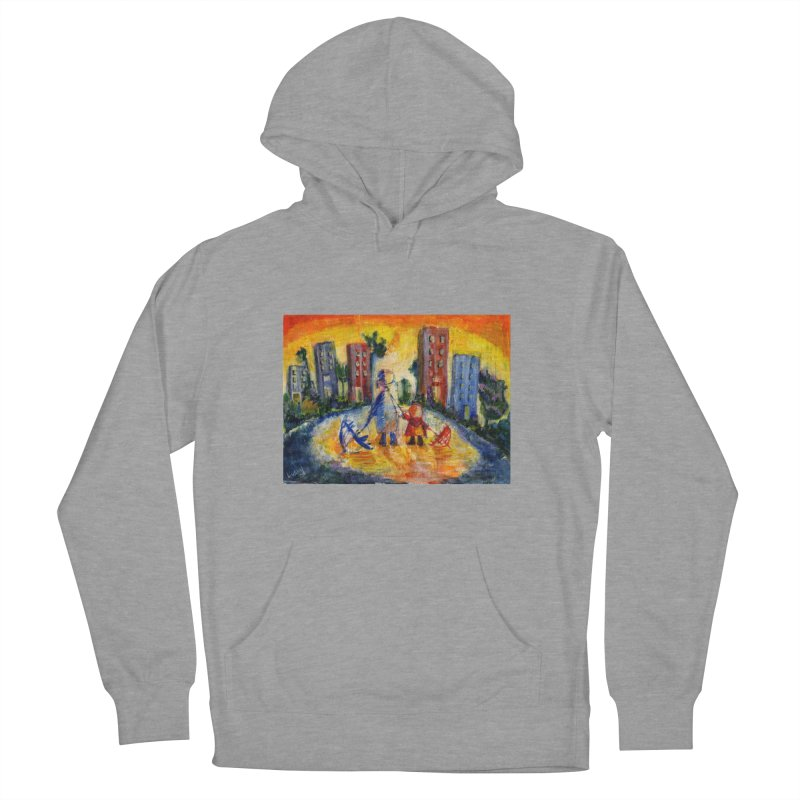 No Rain 70p Women's Pullover Hoody by Luskay Art Shop