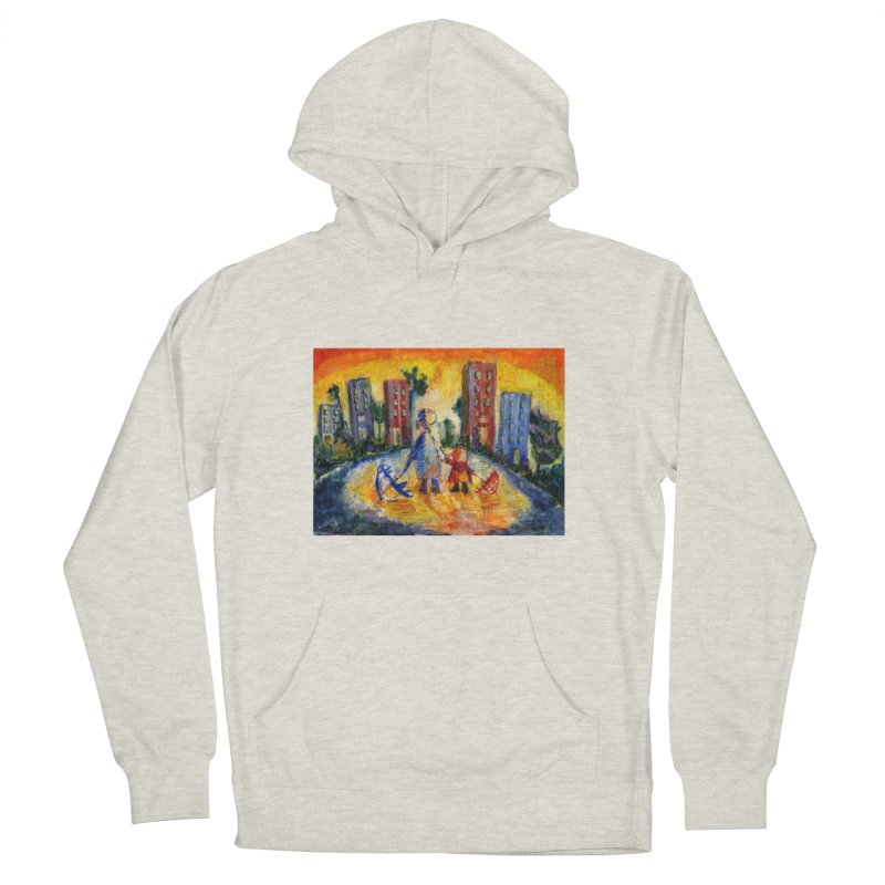 No Rain 70p Women's French Terry Pullover Hoody by Luskay Art Shop