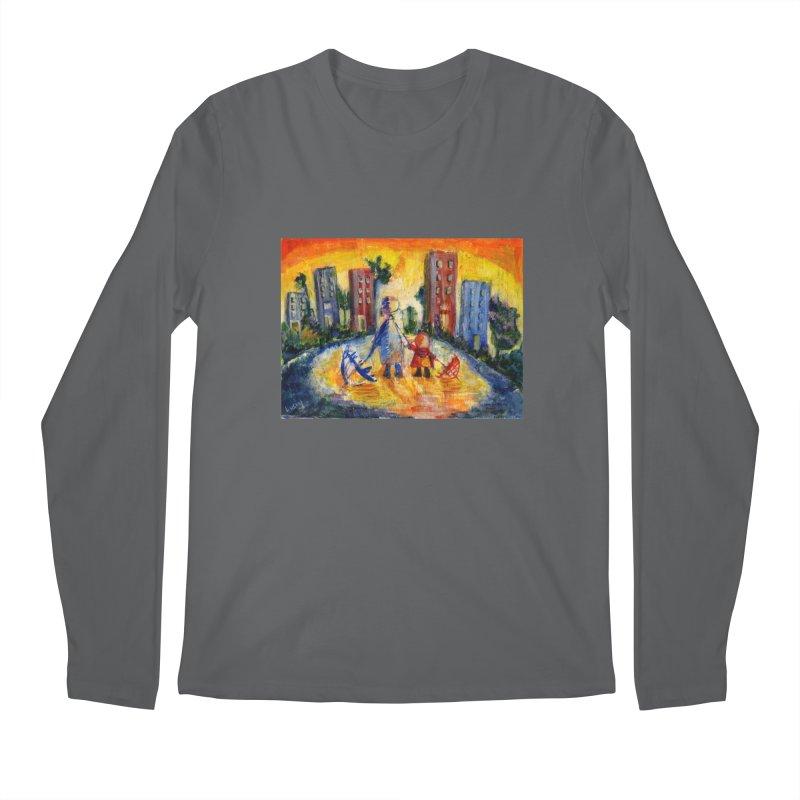 No Rain 70p Men's Longsleeve T-Shirt by Luskay Art Shop