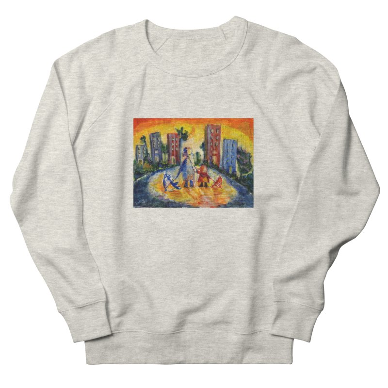 No Rain 70p Women's French Terry Sweatshirt by Luskay Art Shop
