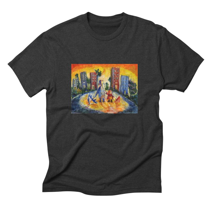 No Rain 70p Men's Triblend T-shirt by Luskay Art Shop