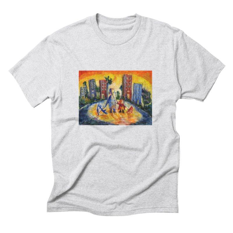 No Rain 70p Men's Triblend T-Shirt by Luskay Art Shop