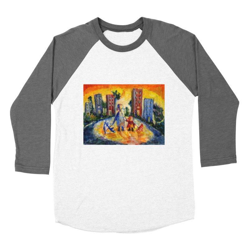No Rain 70p Women's Baseball Triblend T-Shirt by Luskay Art Shop