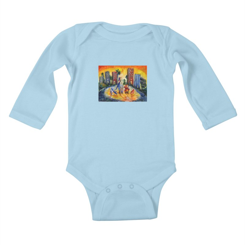 No Rain 70p Kids Baby Longsleeve Bodysuit by Luskay Art Shop
