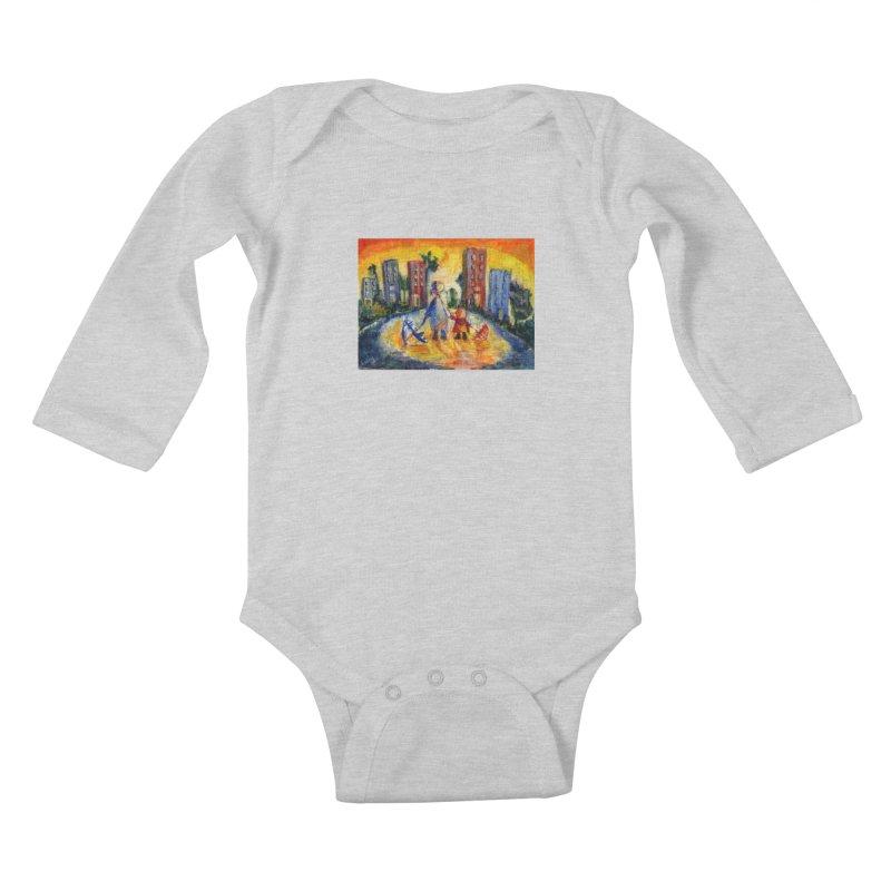 No Rain 70p Kids Baby Longsleeve Bodysuit by Luskay Art Shop