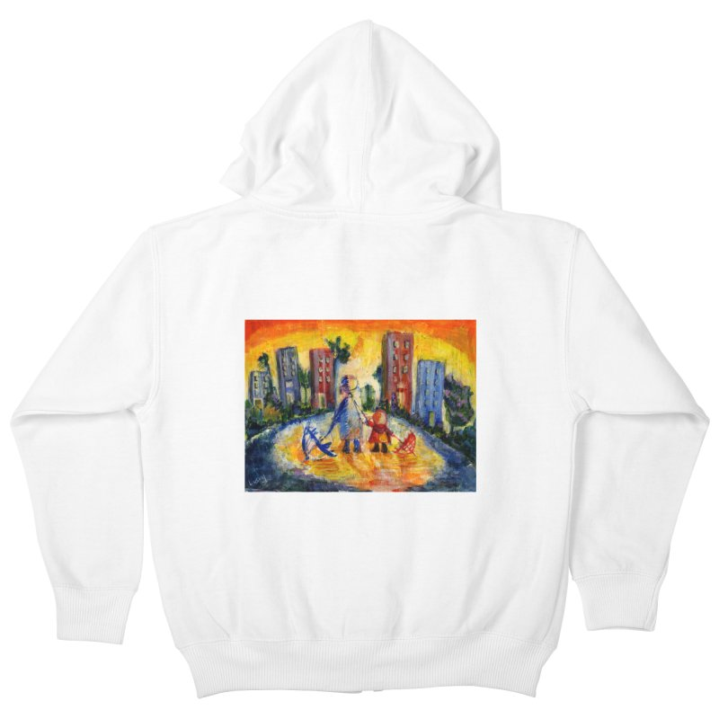 No Rain 70p Kids Zip-Up Hoody by Luskay Art Shop