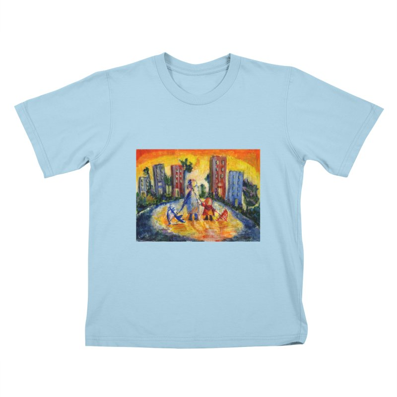 No Rain 70p Kids T-Shirt by Luskay Art Shop