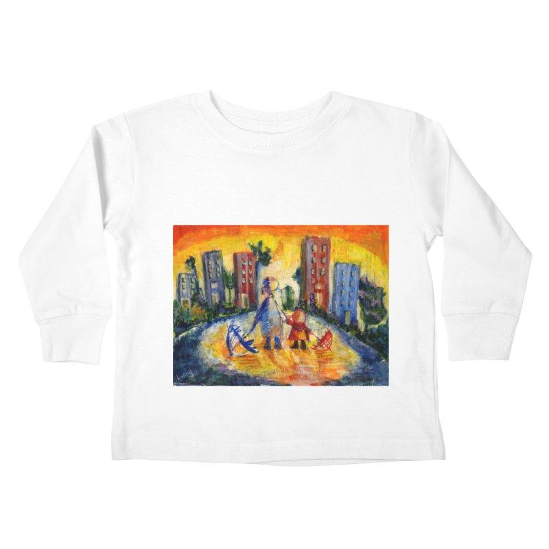 No Rain 70p Kids Toddler Longsleeve T-Shirt by Luskay Art Shop