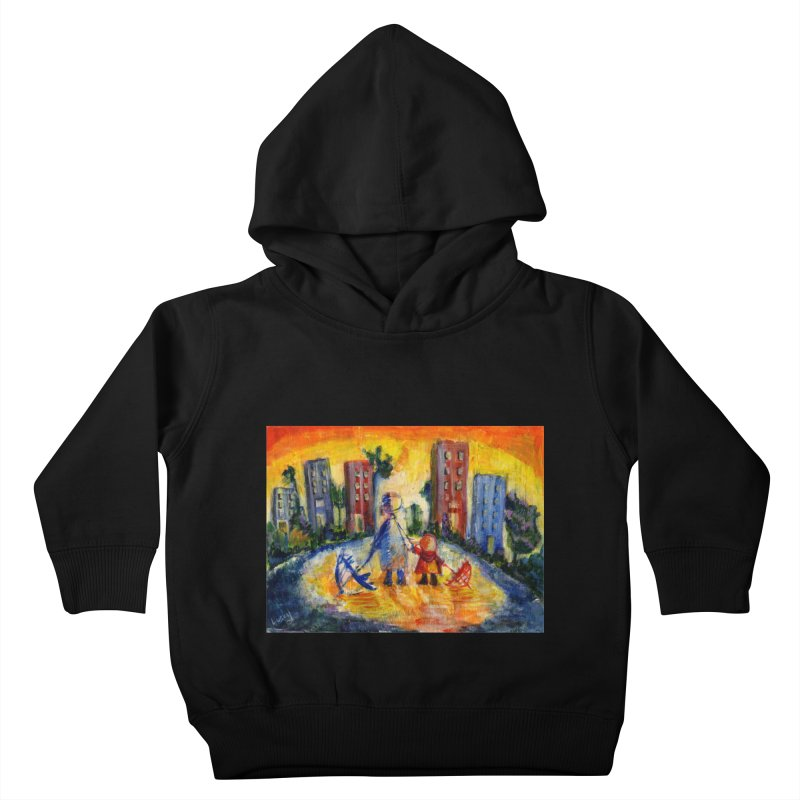 No Rain 70p Kids Toddler Pullover Hoody by Luskay Art Shop