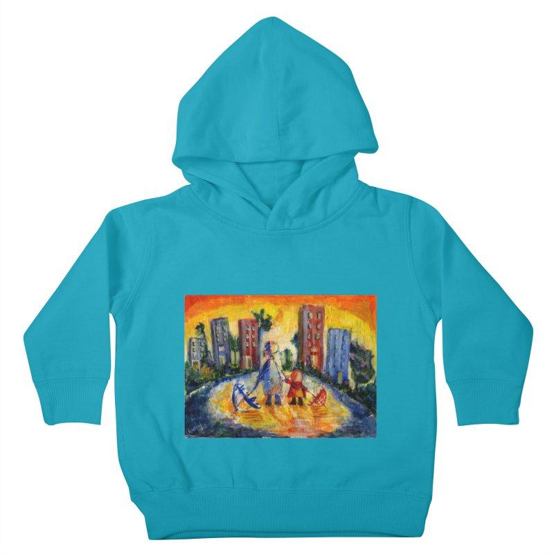 No Rain 70p Kids Toddler Pullover Hoody by Luskay Art Shop