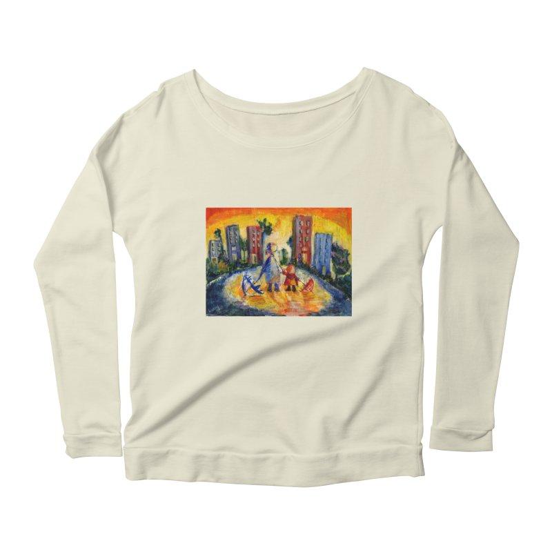 No Rain 70p Women's Scoop Neck Longsleeve T-Shirt by Luskay Art Shop