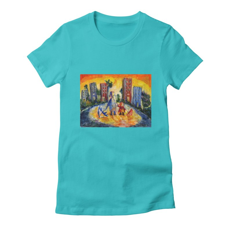 No Rain 70p Women's Fitted T-Shirt by Luskay Art Shop