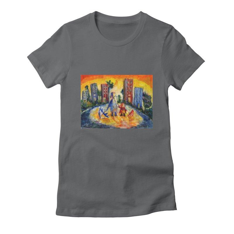 No Rain 70p Women's Fitted T-Shirt by Luskay Art Shop