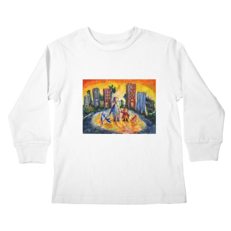 No Rain 70p Kids Longsleeve T-Shirt by Luskay Art Shop