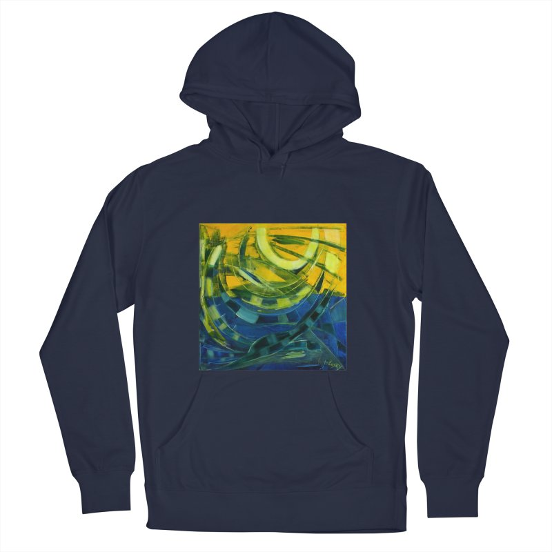 Snail Men's French Terry Pullover Hoody by Luskay Art Shop