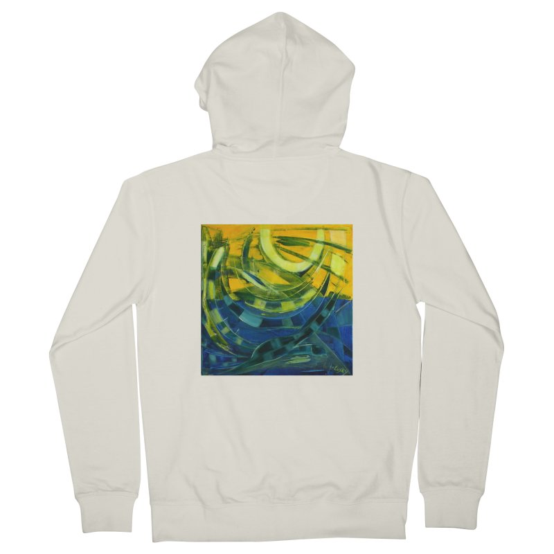 Snail Men's French Terry Zip-Up Hoody by Luskay Art Shop
