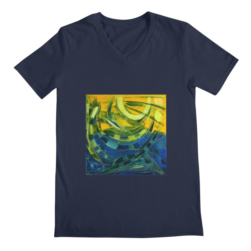 Snail Men's V-Neck by Luskay Art Shop