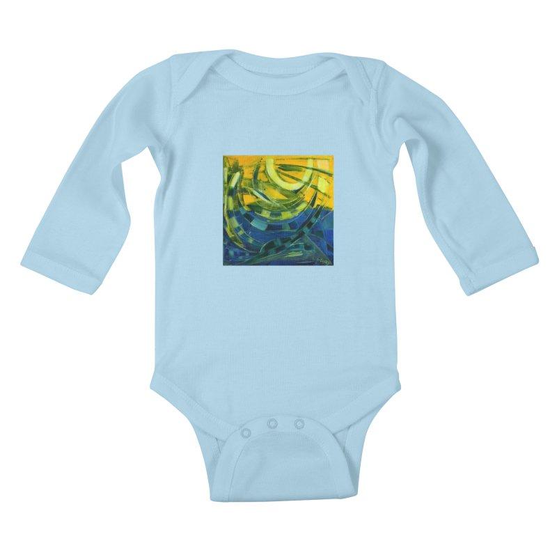 Snail Kids Baby Longsleeve Bodysuit by Luskay Art Shop