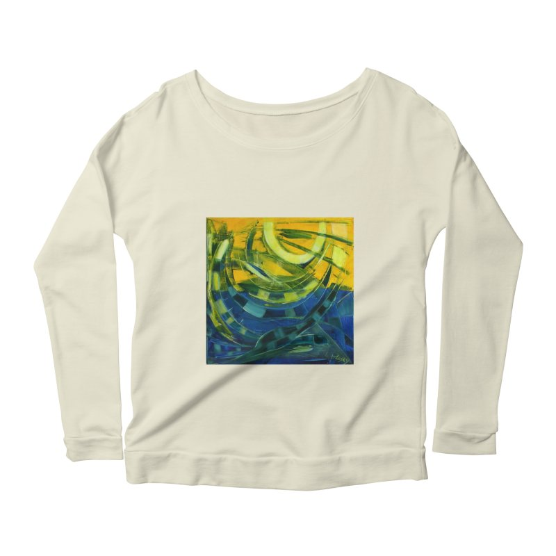Snail Women's Longsleeve Scoopneck  by Luskay Art Shop