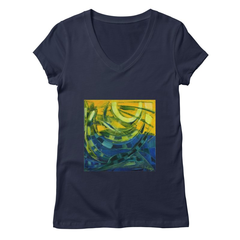 Snail Women's Regular V-Neck by Luskay Art Shop