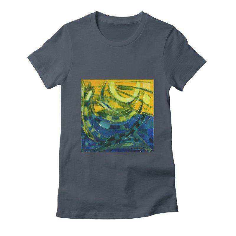 Snail Women's Fitted T-Shirt by Luskay Art Shop