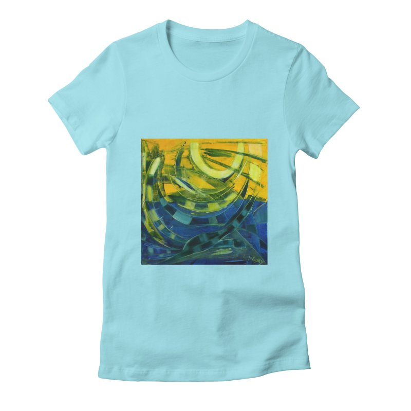 Snail Women's Fitted T-Shirt by Luskay Art Shop