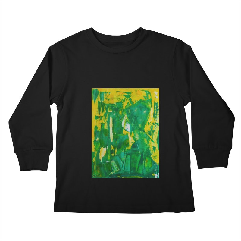 Lady Elf Kids Longsleeve T-Shirt by Luskay Art Shop