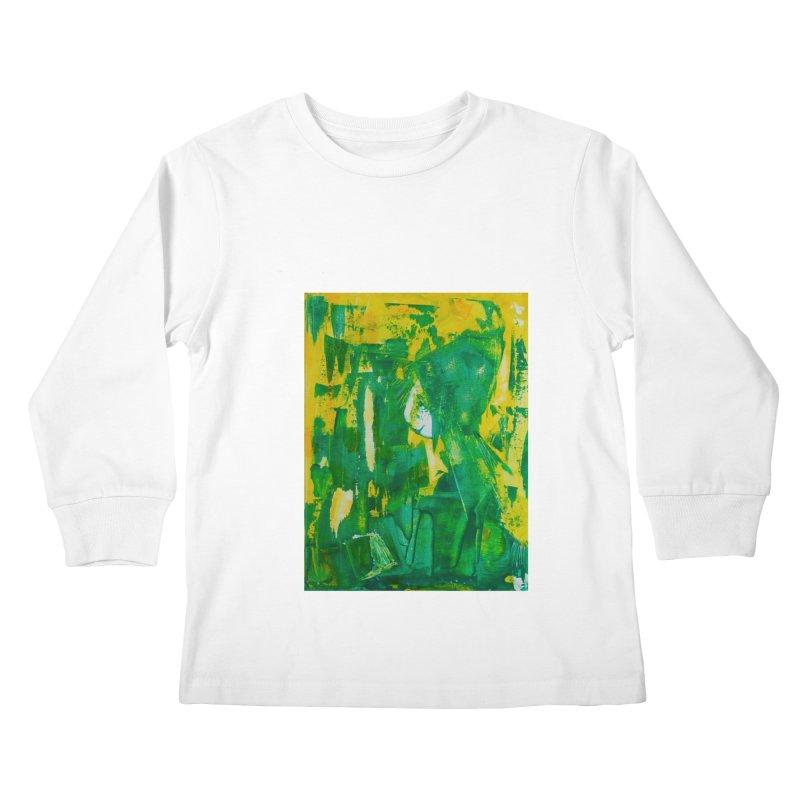 Lady Elf Kids Longsleeve T-Shirt by Luskay Art Shop