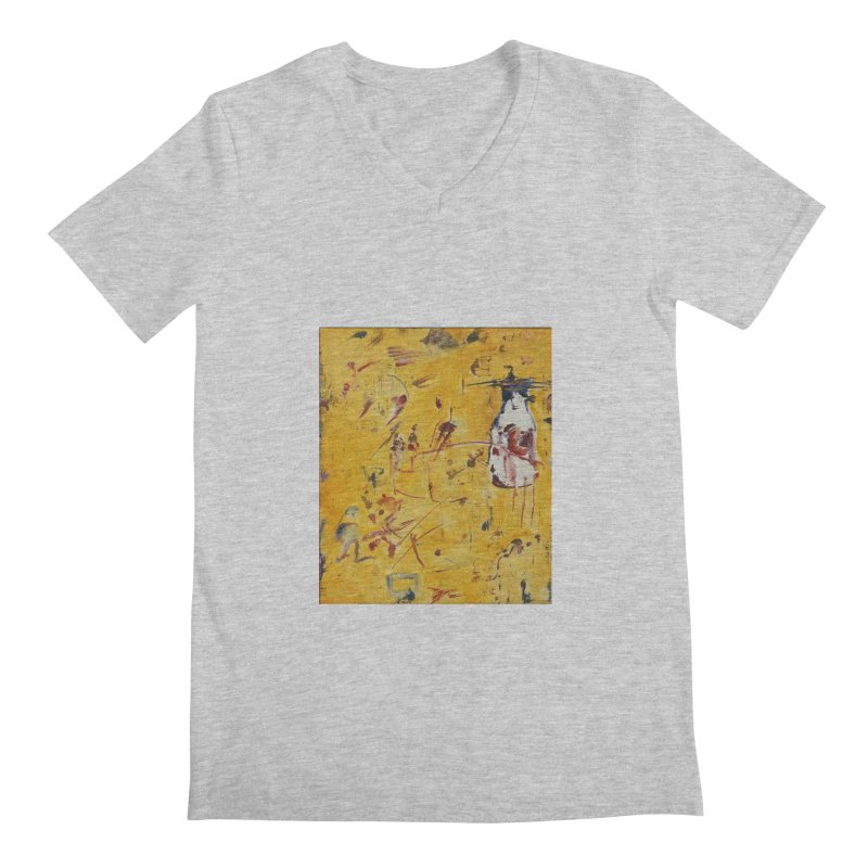 Milk Bottle Men's V-Neck by Luskay Art Shop