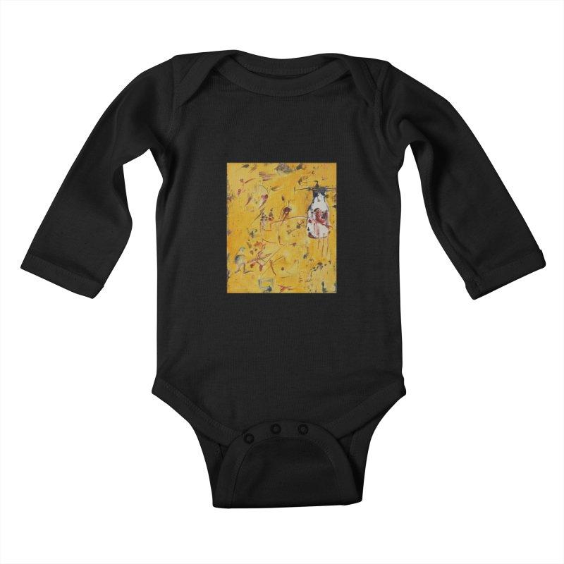 Milk Bottle Kids Baby Longsleeve Bodysuit by Luskay Art Shop