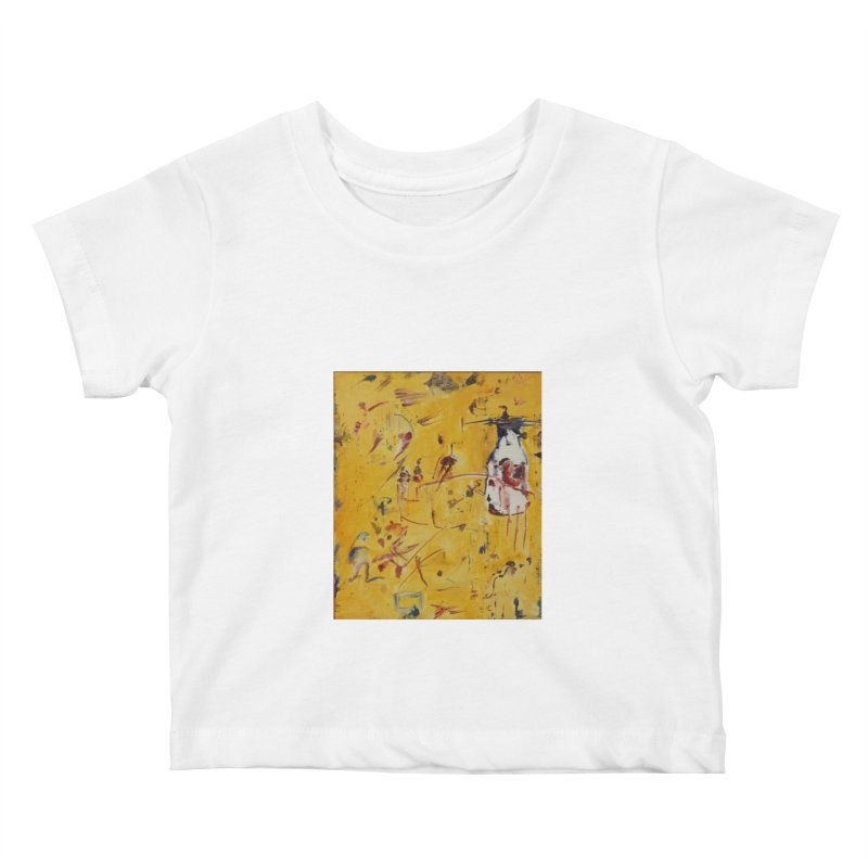 Milk Bottle Kids Baby T-Shirt by Luskay Art Shop