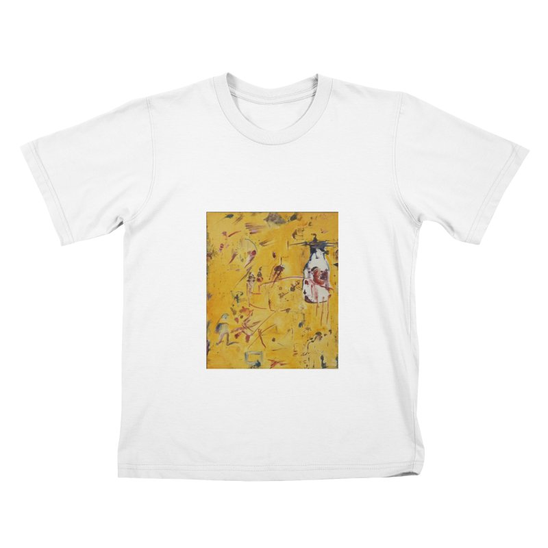 Milk Bottle Kids T-shirt by Luskay Art Shop