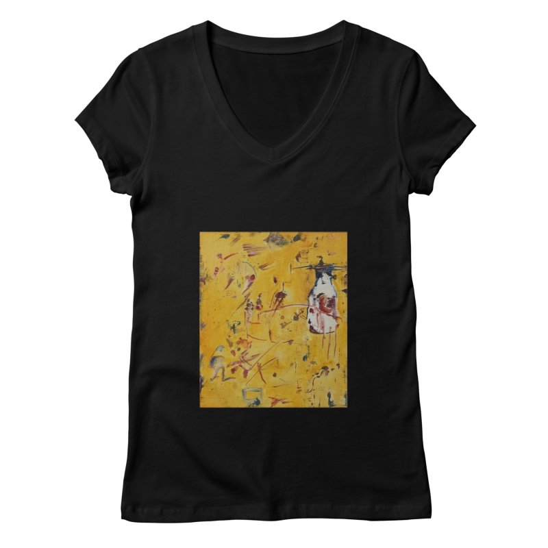 Milk Bottle Women's Regular V-Neck by Luskay Art Shop