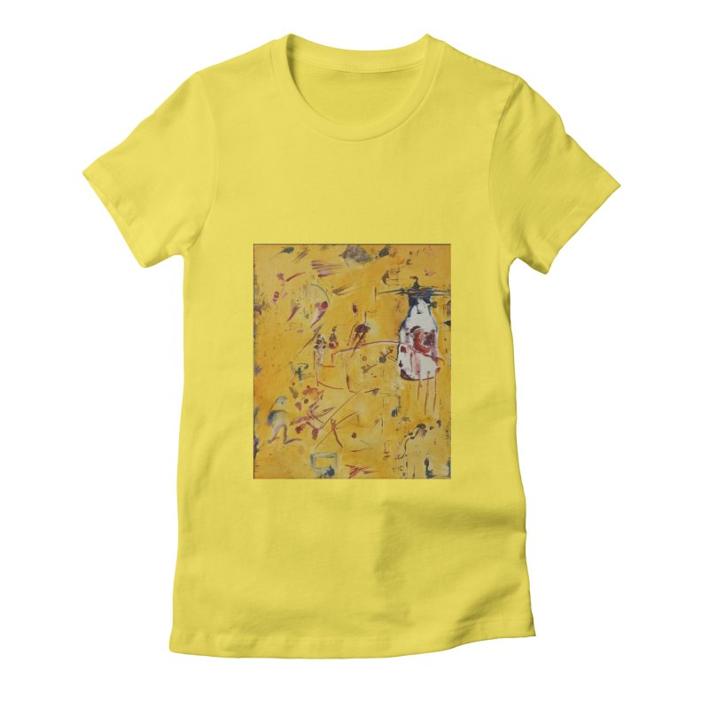 Milk Bottle Women's Fitted T-Shirt by Luskay Art Shop