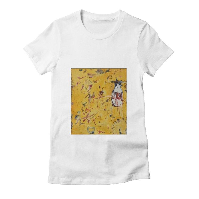 Milk Bottle Women's Fitted T-Shirt by Luskay Art Shop