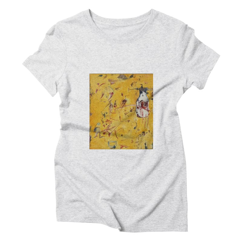 Milk Bottle Women's Triblend T-Shirt by Luskay Art Shop